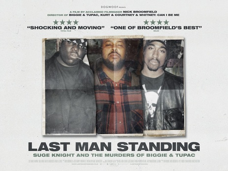 Film picture: Last Man Standing: Suge Knight and the Murders of Biggie & Tupac + Pre-Recorded Q&A.