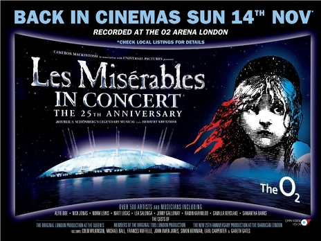 Film picture: Les Miserables: 25th Anniversary ENCORE.