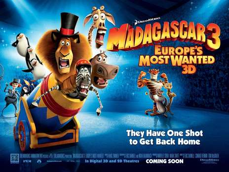 Film picture: 3D Madagascar 3: Europe's Most Wanted