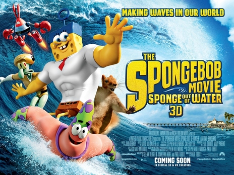 Film picture: 3D The Spongebob Movie: Sponge Out Of Water