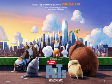 Film picture: 3D The Secret Life Of Pets (inc. 'Mower Minions' short).