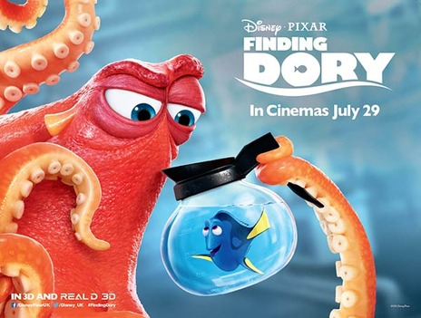 Film picture: 3D Finding Dory [Includes short film Piper]
