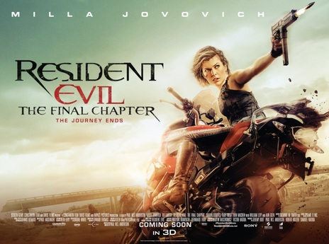 Film picture: 2D Resident Evil: The Final Chapter