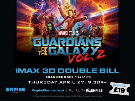 Film picture: (IMAX) 3D Guardians Of The Galaxy Double Bill