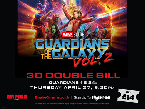 Film picture: 3D Guardians Of The Galaxy Double Bill
