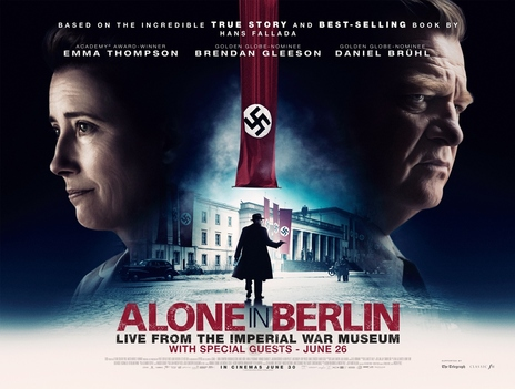 Film picture: ALONE IN BERLIN Live from The Imperial War Museum