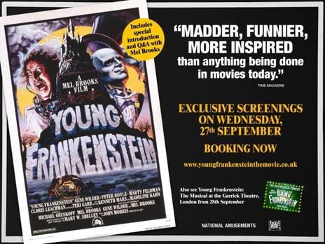 Film picture: Young Frankenstein (Plus Recorded Intro From Mel Brooks)