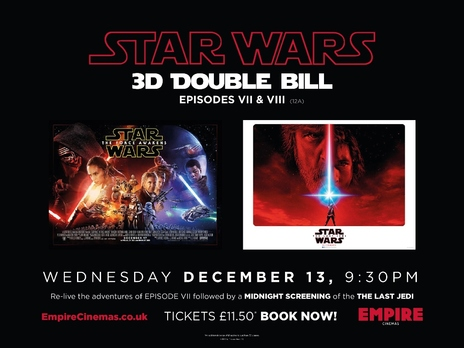 Film picture: Star Wars - 3D Double Bill - EPISODES VII & VIII