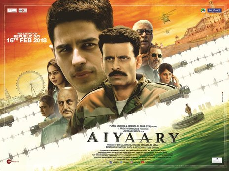Film picture: Aiyaary (Hindi with English Subtitles).