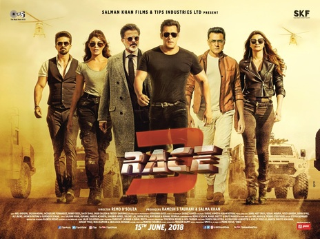 Film picture: Race 3 (Hindi With English Subtitles).