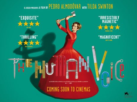 Film picture: Human Voice (Plus recorded Q&A With Pedro Almodovar And Tilda Swinton).