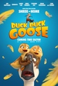 A bachelor goose must form a bond with two lost ducklings as they journey south.