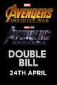Don't miss your chance to catch our AVENGERS Double Bill at selected Empire Cinemas for one night only.