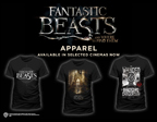 FANTASTIC BEASTS T-SHIRTS AVAILABLE